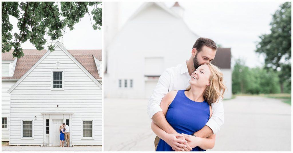 historic barn engagement session