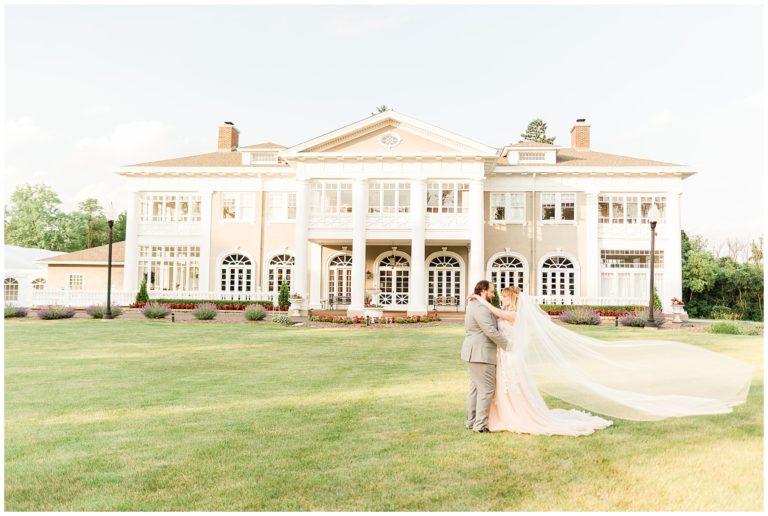 Blue & Blush Mansion Wedding Inspiration