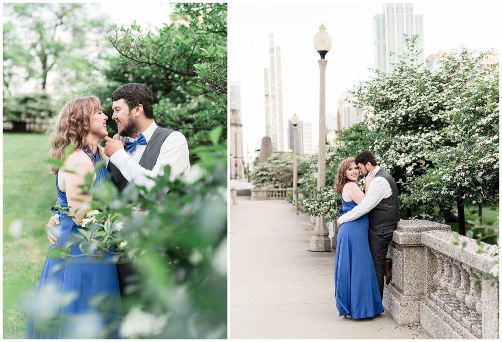 magnificent mile engagement session chicago il